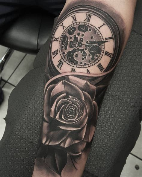 pocket watch and roses tattoo 80 timeless pocket ideas a classic and
