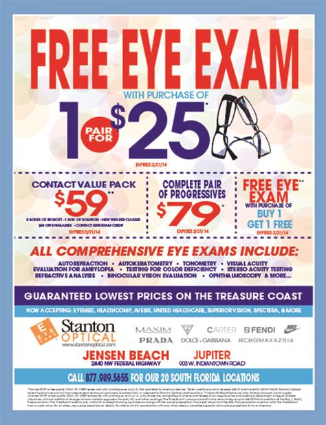 coupons for stanton optical my living magazines