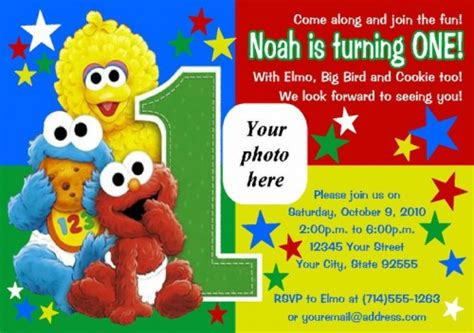 sesame birthday card template elmo sesame birthday invitations drevio