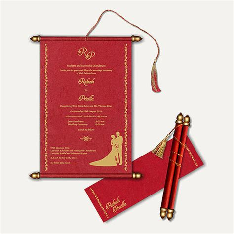 scroll wedding cards at rs 70 scroll invitation parekh cards limited mumbai