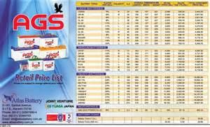 Car Battery Price Karachi Ags Battery Price List Retail Price 2015 Pakistan News