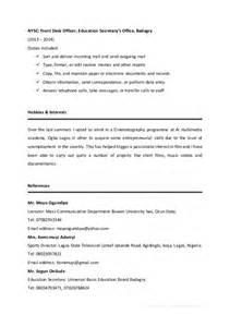 School Leaver Resume Template by Ogidan Ayobami Curriculum Vitae