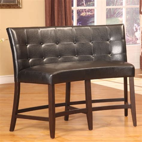 counter height banquette bossa counter height banquette black leatherette
