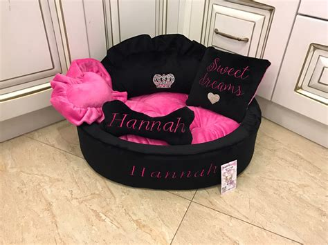 dog princess bed baby pink and ivory princess bed personalised dog bed with dog beds and costumes