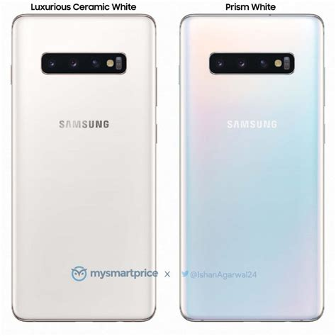 render toont quot ceramic white edition quot samsung galaxy s10 androidics nl