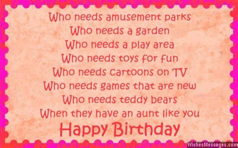 Birthday Quotes For Aunts Best Aunt Ever Poems Happy Birthday Auntie Poem Baby