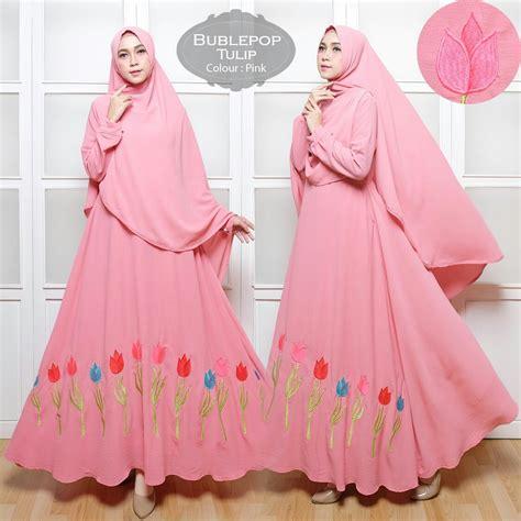 Baju Gamis Syar I Cantik baju gamis bubblepop tulip bordir syar i cantik terbaru