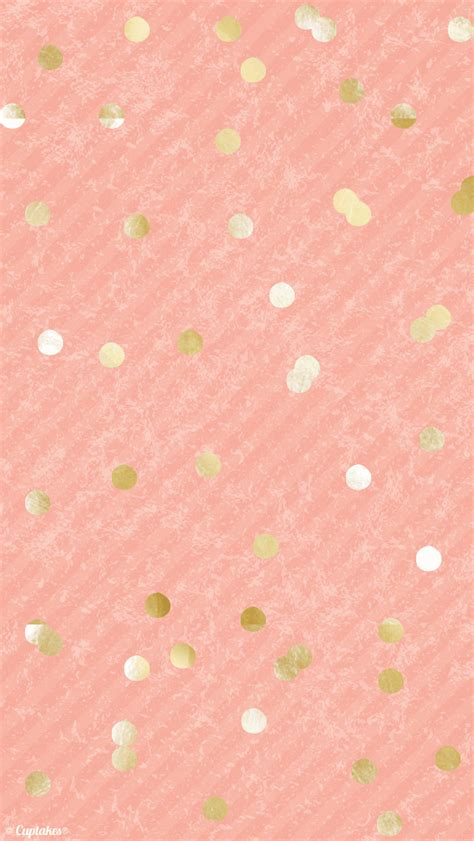 apple wallpaper confetti coral peach gold confetti dots iphone background wallpaper