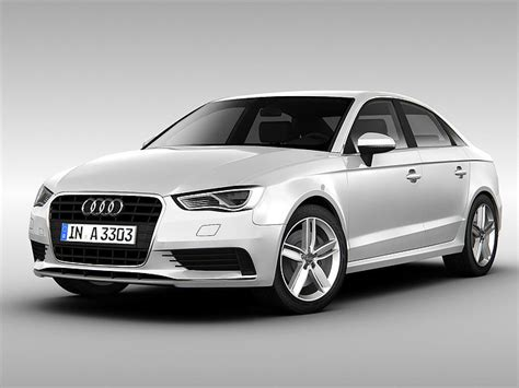 Audi 2014 Models by Audi A3 Sedan 2014 3d Model Cgtrader