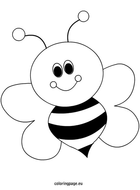bee template bees coloring page