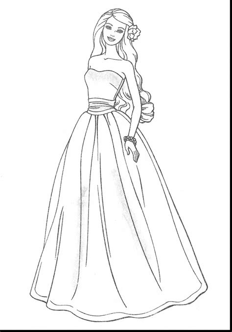 coloring page of a dress designer dress coloring pages coloring pages