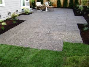 Pavers Or Concrete Patio Seattle Landscaping Paver Patios