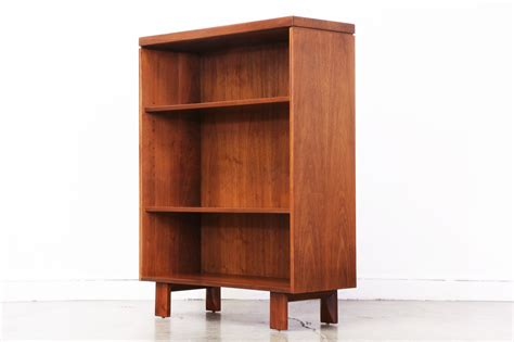 mid century walnut bookshelf vintage supply store