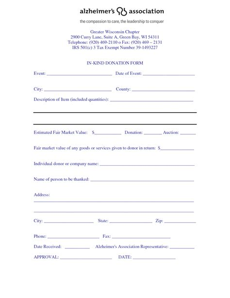 tax donation form template best photos of donation form template tax donation form