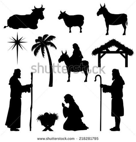 free silhouette nativity scene coloring page search