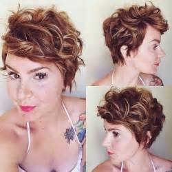 Curly pixie hairstyle women haircuts for thick hair