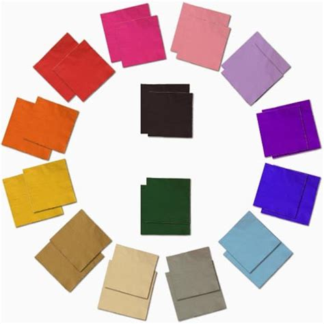 colored napkins paper napkins