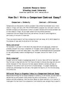 How To Write A Comparison Essay by Writing A Compare And Contrast Essay Compare Contrast Essay Papers Research Paper Human