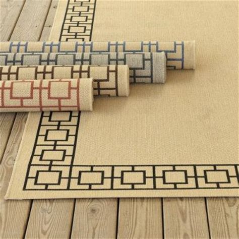 Suzanne Kasler Quatrefoil Border Indoor Outdoor Rug Suzanne Kasler Geometric Border Indoor Outdoor Rug Ballard Designs