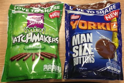 yorkie chocolate buttons foodstuff finds yorkie size buttons mini matchmakers cool mint wh smiths by