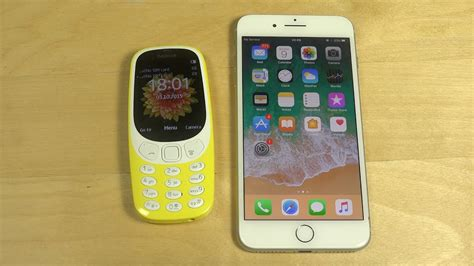 nokia 3310 2017 vs iphone 7 plus ios 11 which is faster