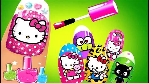 kitty kids games  play nail salon  baby girls