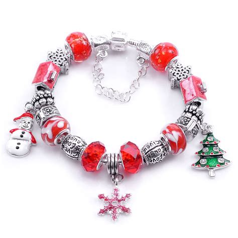 Aliexpress.com : Buy DoreenBeads Free Shipping! Handmade Snap Clasp Snake Chain Christmas Red