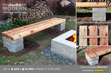 home made benches homemade modern ep57 outdoor concrete bench