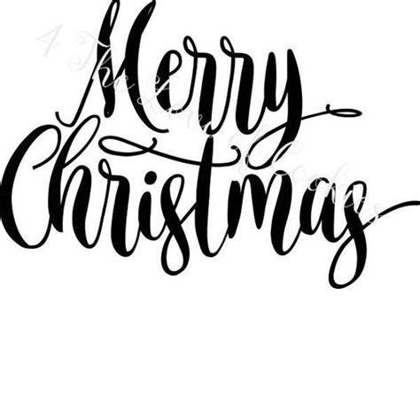 merry christmas silk screen stencils christmas sayings etsy