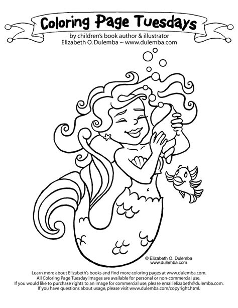 Coloring Page Tuesdays by Dulemba Coloring Page Tuesday Mermaid Az Coloring Pages