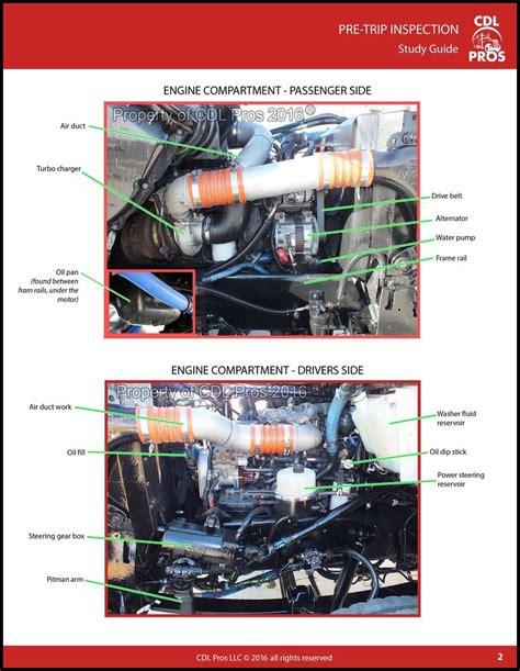 cdl pre trip inspection diagram pre trip inspection cdl pros