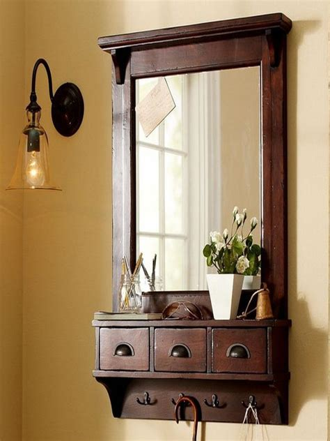 Entryway Wall Organizer With Mirror How To Repair How To Apply Wall Mount Entryway Mirror