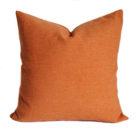 Orange Sofa Pillows Orange Pillow Cover Orange Pillows Throw Pillow