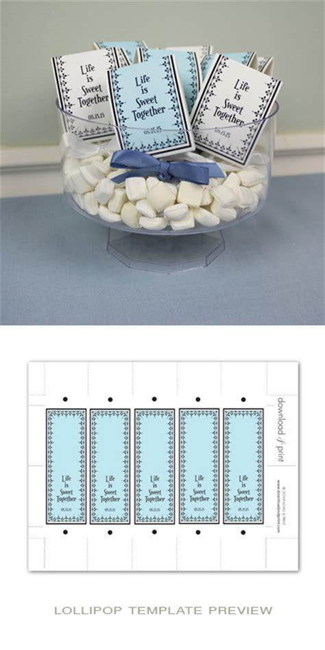 blue white candy buffet bundle  print