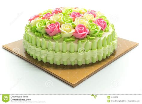 torte di compleanno con fiori torta di compleanno con i fiori su bianco fotografia stock