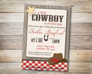 cowboy baby shower invitation digital