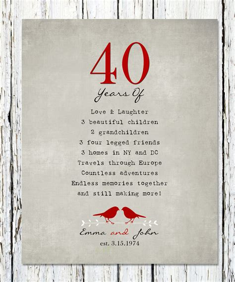 40th Wedding Anniversary Gift Ideas New Zealand by 40th Wedding Anniversary Gift Ideas Nz Mini Bridal