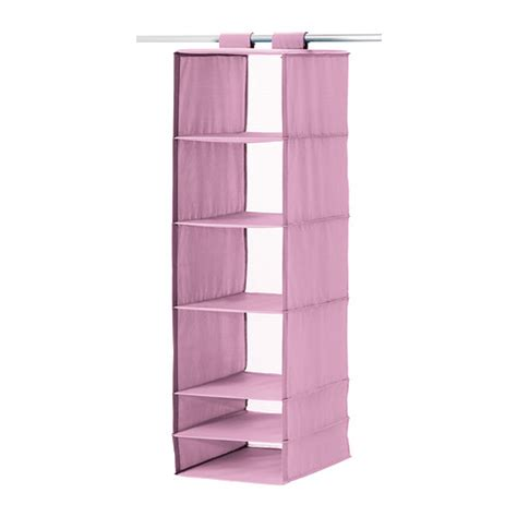ikea hanging storage skubb storage with 6 compartments pink ikea