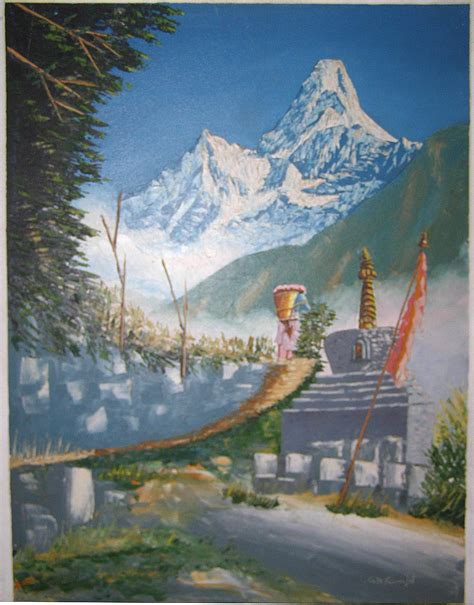 painting for java mount everest painting handmade handicraft gt