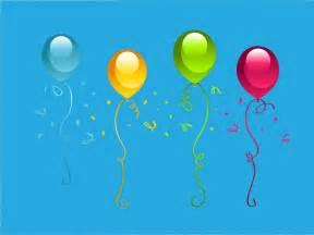 birthday party presentation ppt backgrounds blue