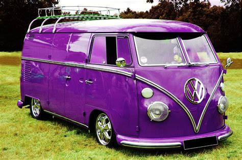 volkswagen purple purple vw panel van with chrome wheels vw pinterest