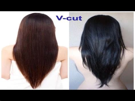 pretty v cut hairs styles v cut beautiful hairstyle for women youtube