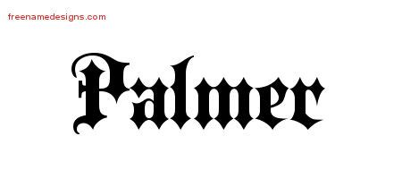 design graphics palmer old english name tattoo designs palmer free lettering