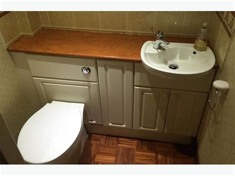 Small Toilet And Sink Vanity Units vanity toilet and sink units cloakroom suite white small downstairs bathroom kingswinford dudley