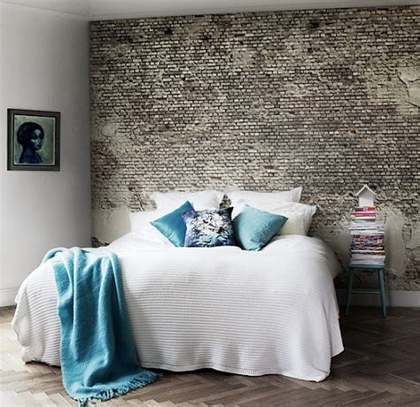 Brick Bedroom Wall by Designer Bedrooms With Exposed Brick Walls