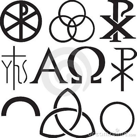 imagenes simbolos biblicos conjunto de s 237 mbolos cristianos fotograf 237 a de archivo