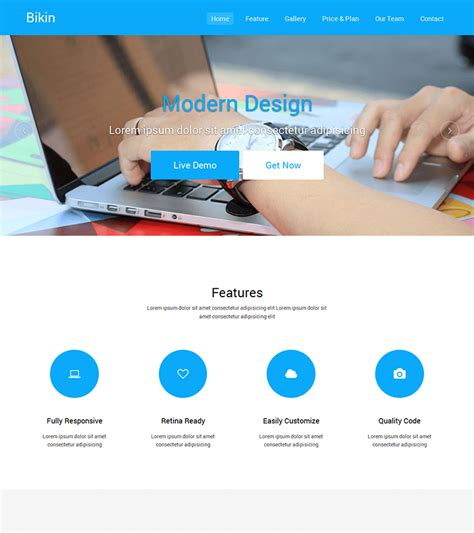Bikin Free Simple Landing Page Template Bootstrapmade Simple Landing Page Template