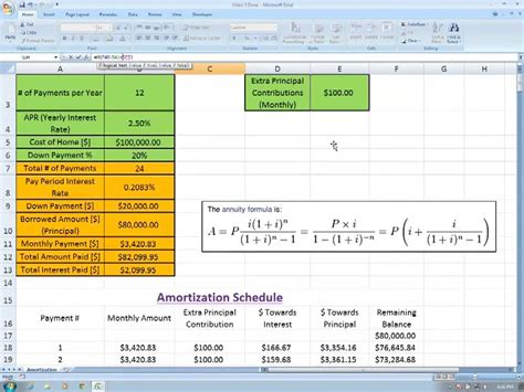 excel loan amortization schedule with payments