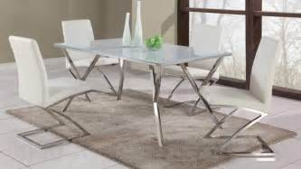 Contemporary Glass Dining Tables And Chairs High End Rectangular Glass Top Leather Dining Table And Chair Sets Modern Dining Tables