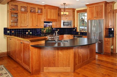 Photos Of Kitchens With Cherry Cabinets by Craftsman Style Inset Beaded Cabinets T Scholl Fine
